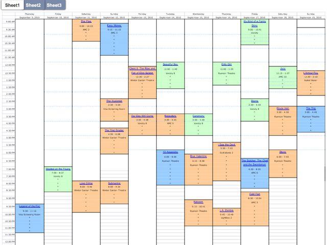 2010 movie schedule