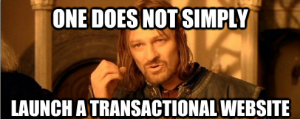 One does not simply launch a transactional website